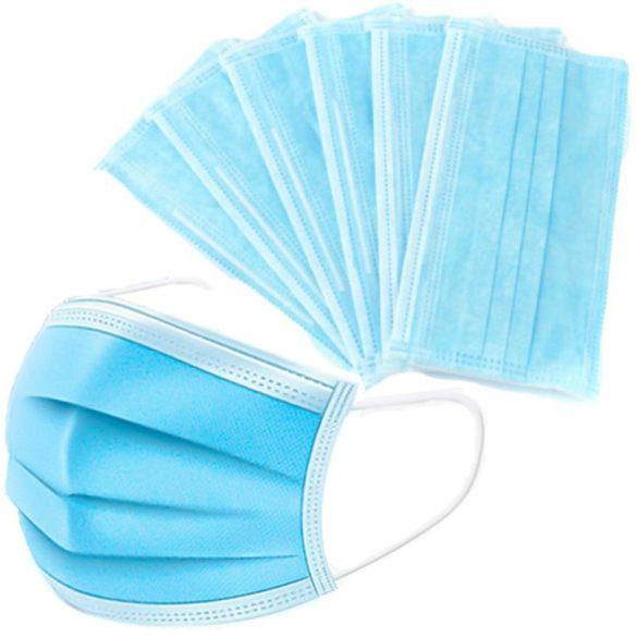 3 rétegű szájmaszk egyszer használatos maszk 50db/csomag